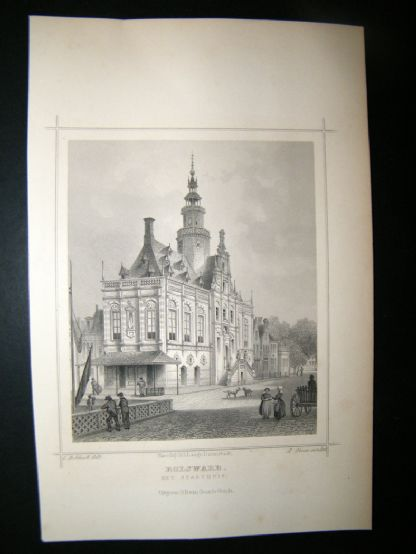 Holland Netherlands C1850's Antique Print. Bolsward | Albion Prints